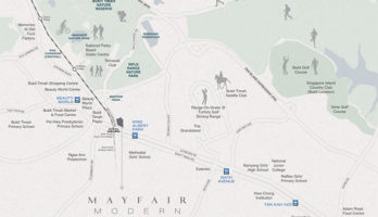 Mayfair Modern Location Map Small Singapore
